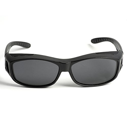 Over Glasses Sunglasses - Polarized Fitover Sunglasses with 100% UV Protection - By Pointed Designs- Style 1 - Glass Pointed