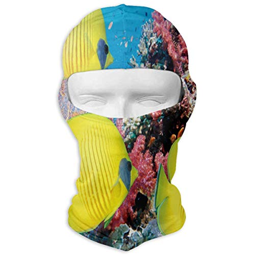 YIXKC Balaclava Underwater World of Tropical Fish Unique Windproof Ski Mask for Women Skiing]()
