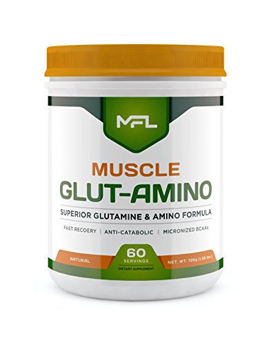 (MUSCLE FOOD LABS Muscle GLUT-AMINO ★ Glutamine & Amino Blend (Natural))
