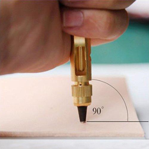 6pcs Tipps Hrph Automatische Gurte stanzen auswechselbare lange stumme Rotary Stanzen Stanzer Leather Craft Tools