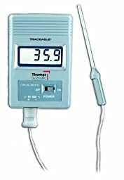 Thomas Traceable 100 Platinum Freezer Thermometer, with Dew Point Display, 5\