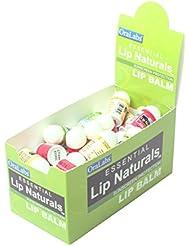 Essential Lip Naturals   Mini Lip Balm Assorted Flavors - Approximately 50ct (Vanilla Bean, Tea Tree Mint, Bing Cherry)[SPF-15]
