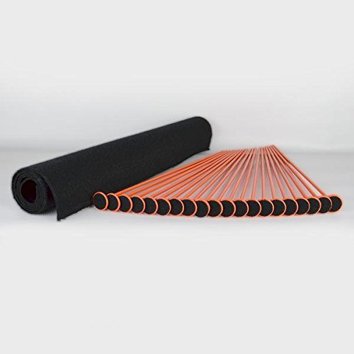 Gun Storage Solutions Rifle/Shotgun Plastic Kit and Shelf Liner - Rack for Gun Cabinet, Gun Safe Organizer Accessory, Includes 20 Orange 16-Inch Rods and 30