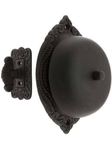 House of Antique Hardware R-06SE-0900021 Transitional Victorian Mechanical Door Bell in Oil Rubbed Bronze