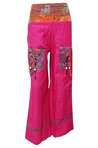 Pantalón Designs Boho Rosa Chic Mujer Para qOOg7