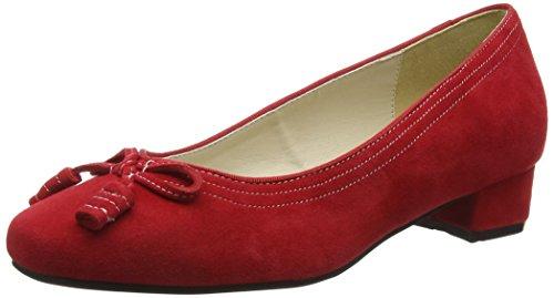 021 3001514 Rosso Rot Punta col Tacco Chiusa Scarpe 021 Donna Hirschkogel 4xndw0qv6d