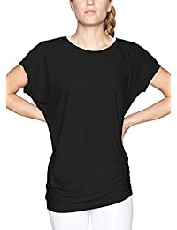Women's Batwing Sleeve Top Casual Short Sleeve Round Neck Loose Tunic T Shirt Blouse Tops