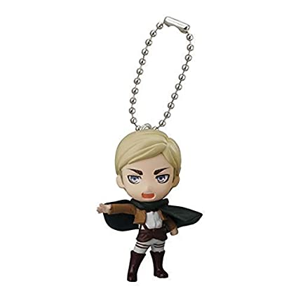 Bandai Attack On Titan Figure Swing Keychain Part 2~Erwin Smith