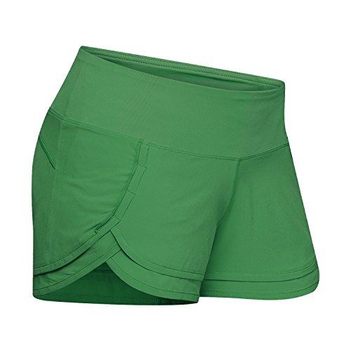 (Womens Ultra Lightweight Running WOD Tennis Workout Yoga Shorts with Mesh Liner & Pocket on Waist Band)