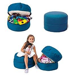 mimish Storage Pouf – Toy and Stuffed Animal Storage for Kids