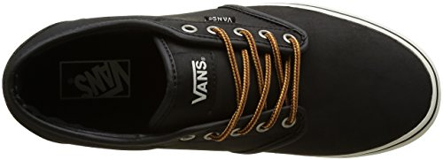 Vans Atwood, Zapatillas para Hombre Negro (Leather)