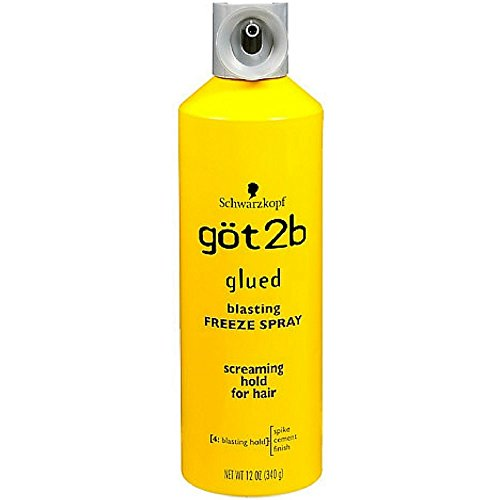 Got2b Glued Blasting Freeze Spray, 12 Ounce (Hair Braided To The Side With Weave)