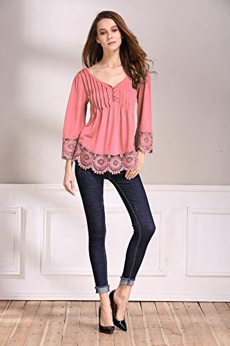 Buy fair child womens v-neck hi-low blouse