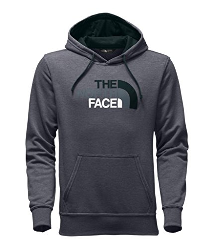 (The North Face Men's Half Dome Hoodie - TNF Medium Grey Heather & Darkest Spruce Multi - M (Past Season))