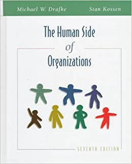 Book The Human Side of Organizations by Michael W. Drafke (1997-11-03)