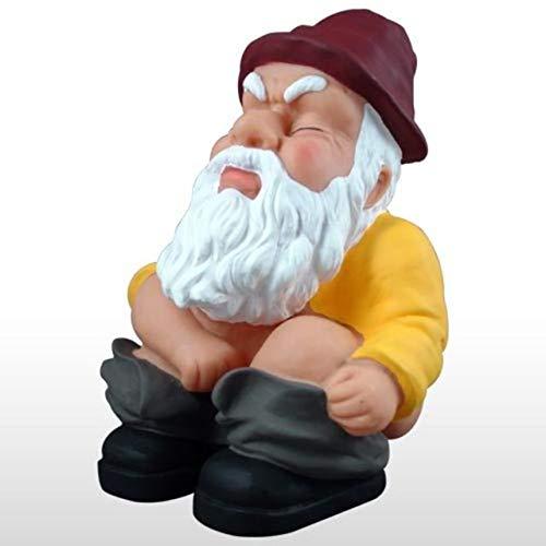 Squatting Garden Gnome -