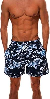 e1dfd0ce0c012 Gusspower bañador Trajes de baño de Camouflage de Hombres de natación  Pantalones Cortos para Tabla de Surf de Playa Shorts