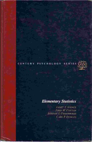 Elementary Statistics (The Century psychology series)