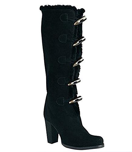 Stiefel von Apart aus Veloursleder in Schwarz Schwarz