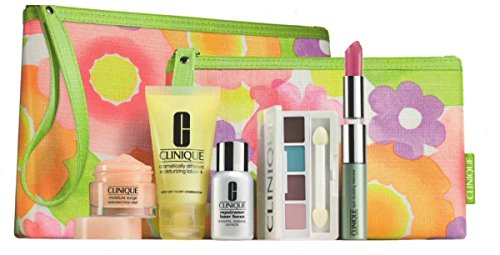 Clinique 7 Piece Fresh Face Favorites Set, Glazed Berry (Clinique 7 Piece)