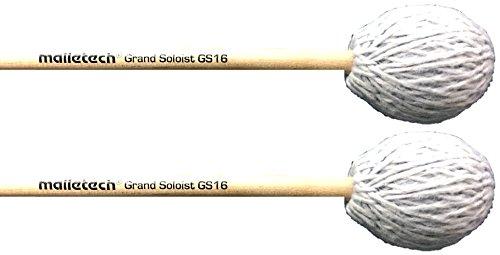(Malletech Grand Soloist GS16 Medium Hard Bright Grey Marimba Mallets)