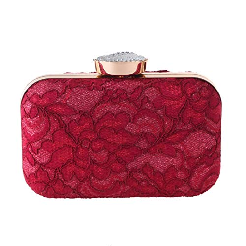 Bag Tide Handbags Bag Evening New Party evening Fashion Bag bag Lace Fly Red Party Clutch wPTnxE8