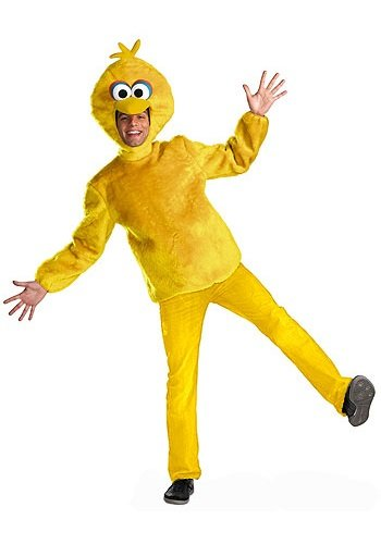 (Disguise Unisex Adult Male Big Bird, Yellow, X-Large (42-46))