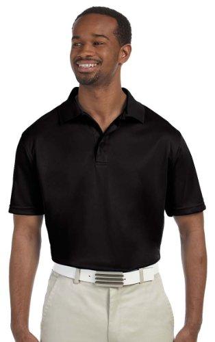 HARRITON Herren Polytech Short Sleeve Polo Shirt Gr. Medium, Schwarz