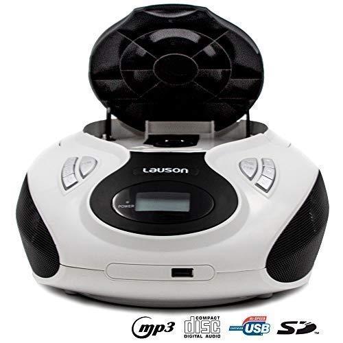 Lauson Radio y Reproductor de CD Portátil con USB | Radio Am/FM | USB y Mp3 | CD Player con Salida para Auriculares 3.5mm | CP638 (Rosa): Amazon.es: ...