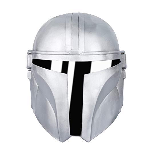 BakaKa Novedad The Mandalorian Deluxe Full Face Latex Star Wars Mascara Fiesta de Halloween Accesorios de Cosplay