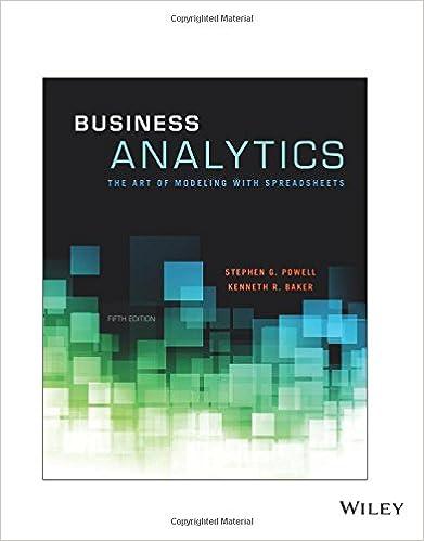 Amazon business analytics the art of modeling with business analytics the art of modeling with spreadsheets fifth edition the art of modeling with spreadsheets fandeluxe Gallery