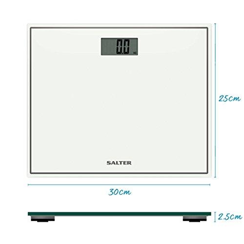 Salter Compact Digital Bathroom Scales - Toughened Glass, Measure