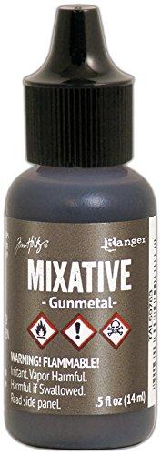 - Ranger Gunmetal Tim Holtz Alcohol Ink Metallic Mixatives