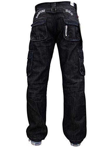 Enzo - Jeans -  Homme -  - EZ 08 - Black - X-Large