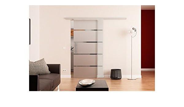 Dorma Puerta Corredera de Cristal Dorma Agile 50 4 tiras con barra ...