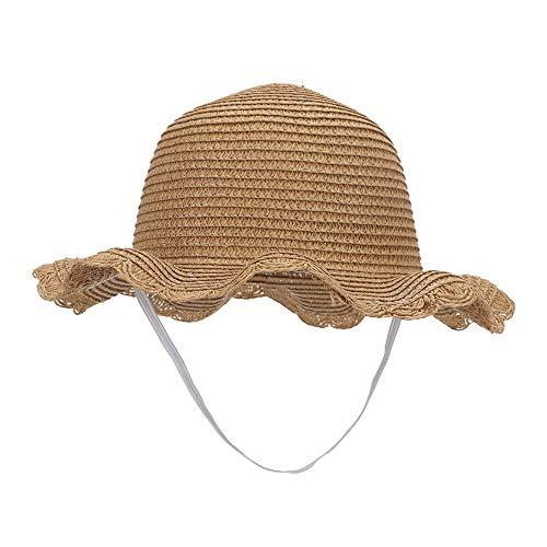 MK MATT KEELY Girls Sun hat Toddler Kids Beach Straw Shade Cap UPF 50+ Visor Khaki