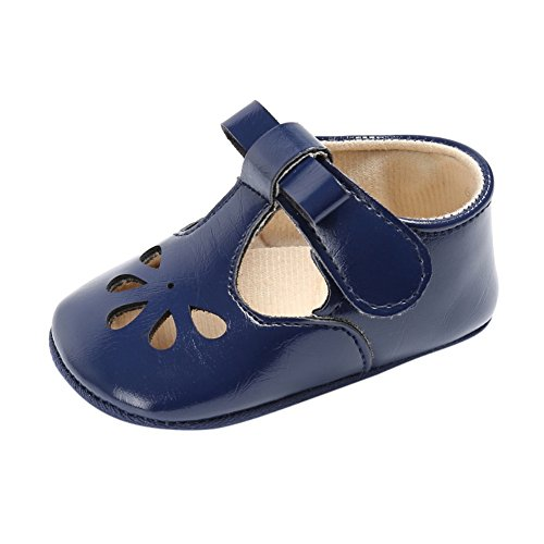 (Weixinbuy Infant Baby Girl's Hollow Comfort Sole Casual Mary Jane Shoes Flats Blue)