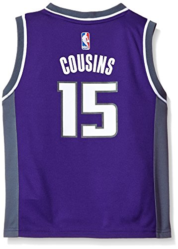 OuterStuff NBA Boys 4-7 Sacramento Kings Cousins Away Replica Jersey-Purple-M(5-6)
