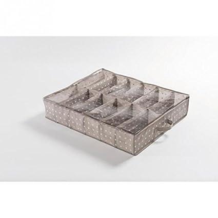 Schuhbox f/ür unters Bett Faservlies 75G wei/ße Aufdrucke 76 x 60 X 15 CM SET 0F KASURI RANGE PEVA oben Farbe: Blau 533C
