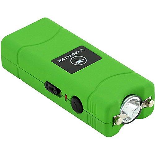 (VIPERTEK VTS-881 - 35 Billion Micro Stun Gun - Rechargeable with LED Flashlight, Green)