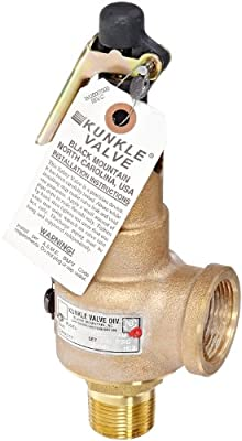 """Kunkle 6010FEE01-AM0100 Bronze ASME Safety Relief Valve for Steam, EPR Soft Seat, 100 Preset Pressure, 1"""" NPT Male Inlet x 1-1/4"""" NPT Female Outlet by Tyco Valves & Controls"""