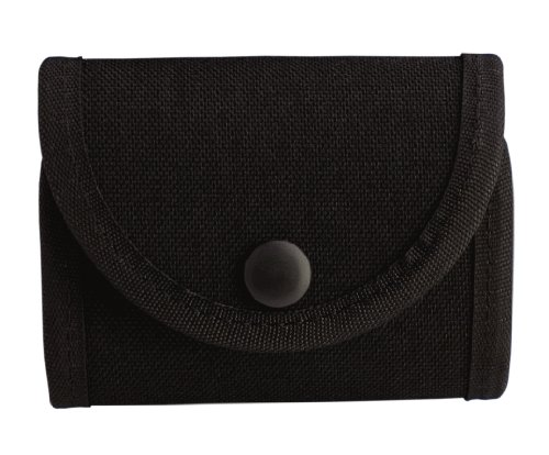 Uncle Mike's Kodra Duty Nylon Web Double Snap Close Latex Glove Pouch, Black ()