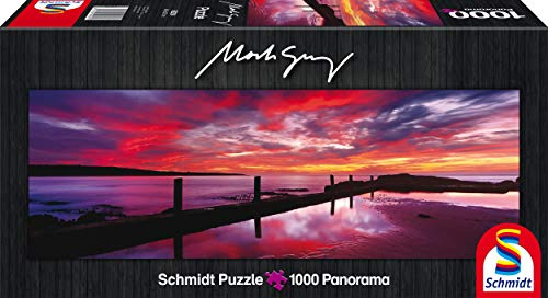 SCHMIDT Eden Sea Baths at Sunset by Mark Gray Panoramic Puzzle (1000-Piece) -