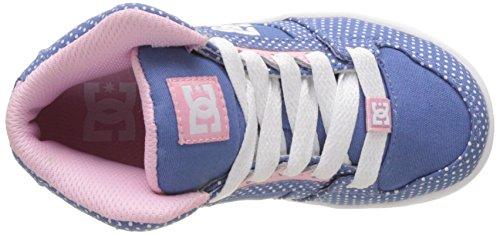 DC Shoes Rebound TX Se, Zapatillas Altas Niñas Multicolore (Blue/White Print)