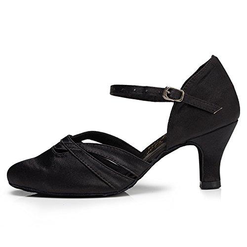 35 Heel Salle de Noir Femme Black 6cm Bal Miyoopark 8xZq0q