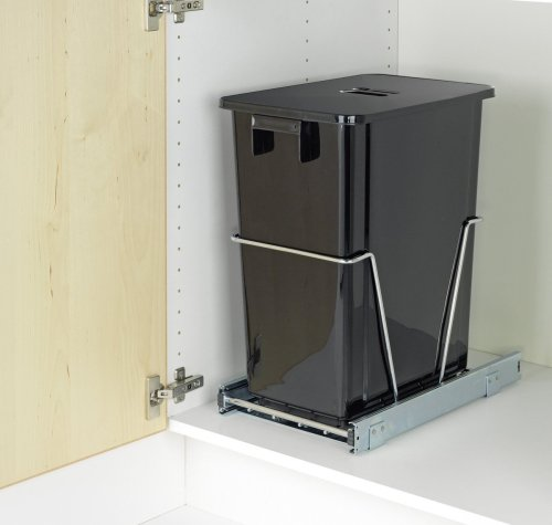 Wenko 5960100 cubo de basura con rieles para sacar de - Cubo basura extraible ...