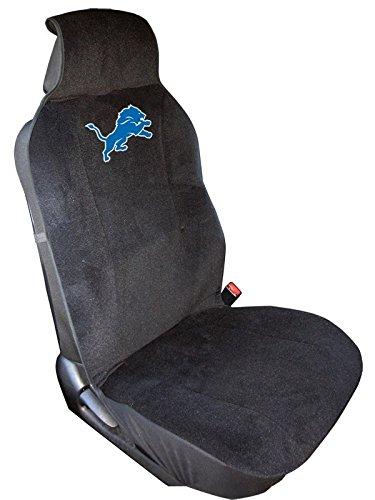 NFL Detroit Lions Seat Cover, Black, One (Nfl Automotive Fan Kit)