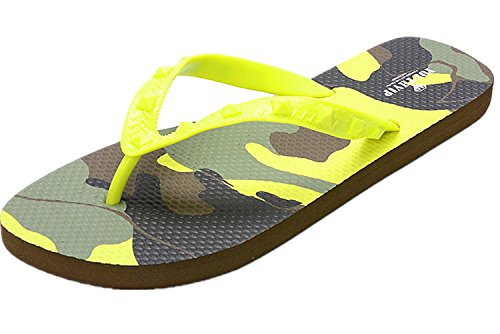 Thong Patterned Footbed ANBOVER Flip Mens Beach Flop Camouflage Lemon Sandal wZqAxp01n
