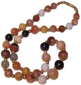 Collar ágatas colorido piedras semi preciosas aprox. 45 cm perlas curativas cuentas de entre 4 y 10 mm