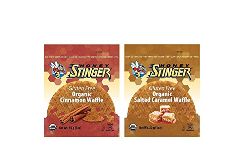 Honey Stinger Waffle, Organic Gluten Free Variety Pack (Salted Caramel and Cinnamon, 16 ()
